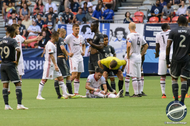"A ""fuming"" Carl Robinson rips referee David Gantar after Whitecaps hurt by what he feels were contentious decisions"
