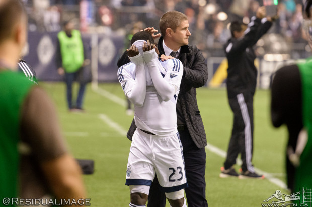 Vancouver Whitecaps v Portland Timbers – A Home Playoff Story In Pictures