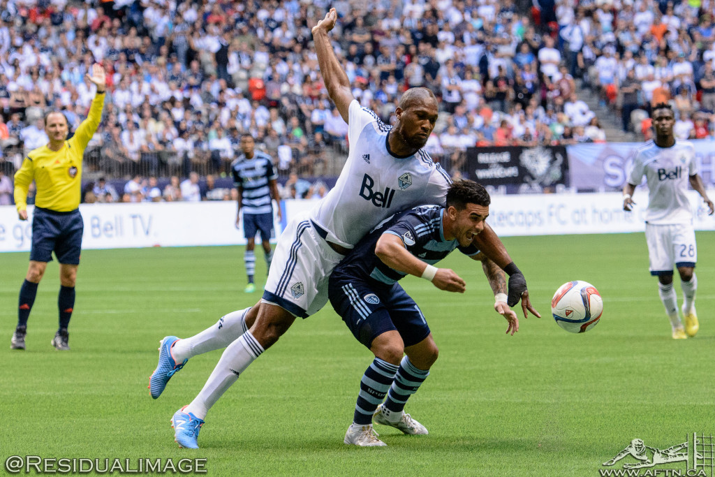 Kendall Waston v Dom Dwyer - The Battle In Pictures (5)