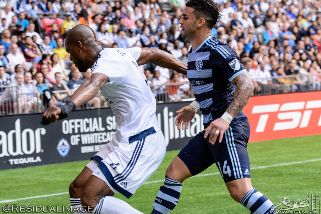 Kendall Waston v Dom Dwyer - The Battle In Pictures (6)