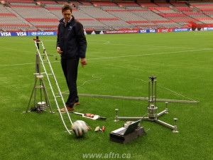 BC Place turf pitch testing