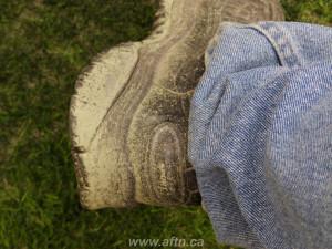 BC Place turf pitch shoe damage