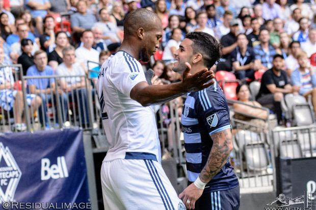 Kendall Waston v Dom Dwyer – The Battle In Pictures
