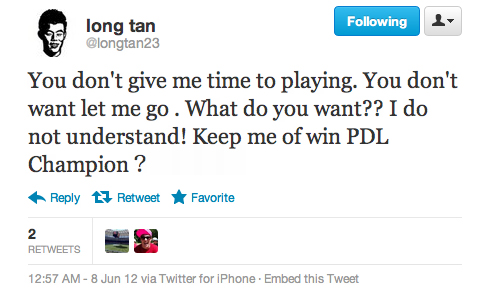 Long Tan Tweet