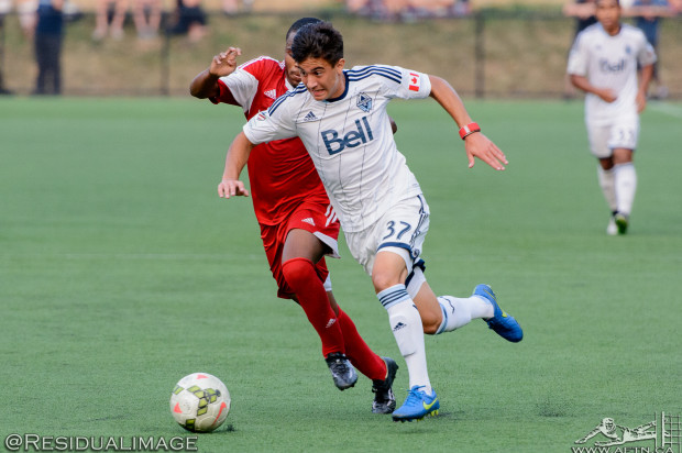 Ten Count with Whitecaps Residency U16 captain Nicolas Apostol