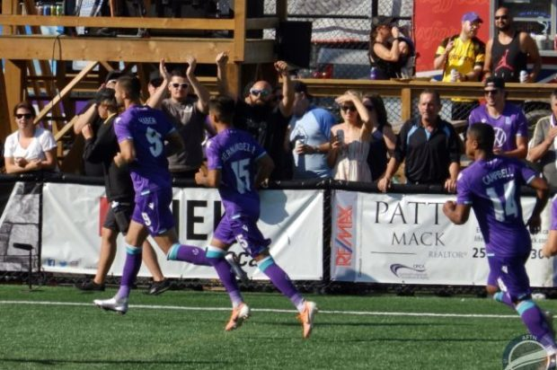 "Gale left ""furious"" at referee after Marcus Haber double gives Pacific FC a comeback victory over Valour FC in feisty affair"
