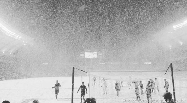"""Whitecaps not blaming snow for Saturday's loss to RSL """"but it should have been called off"""""""