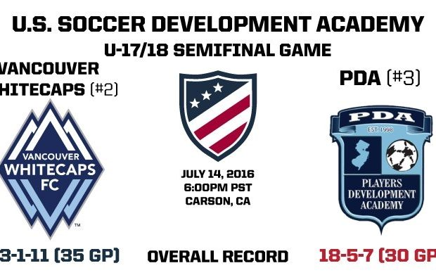 "Vancouver Whitecaps U18s heading to USSDA Championship game: ""We've been waiting for the final all year"""