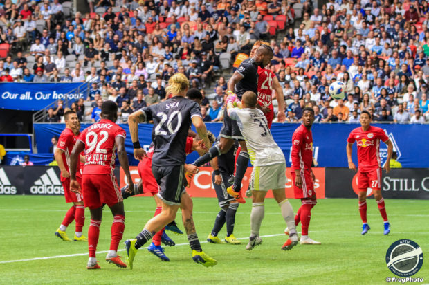Report and Reaction: Waston heads home two but Royer's Red Bull late show grabs a point for New York in Vancouver