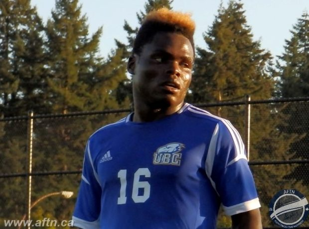 "UBC's Victory Shumbusho back to health and back to goalscoring form as part of ""one of the strongest attacks in the league"""