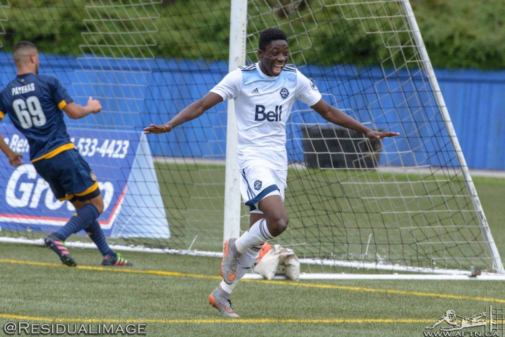 Alphonso Davies Vancouver Whitecaps first pro goal