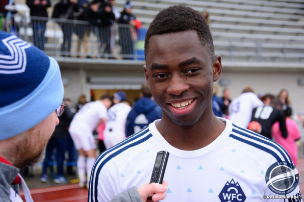 WFC2 striker Gloire Amanda quickly showing he belongs after signing first pro deal