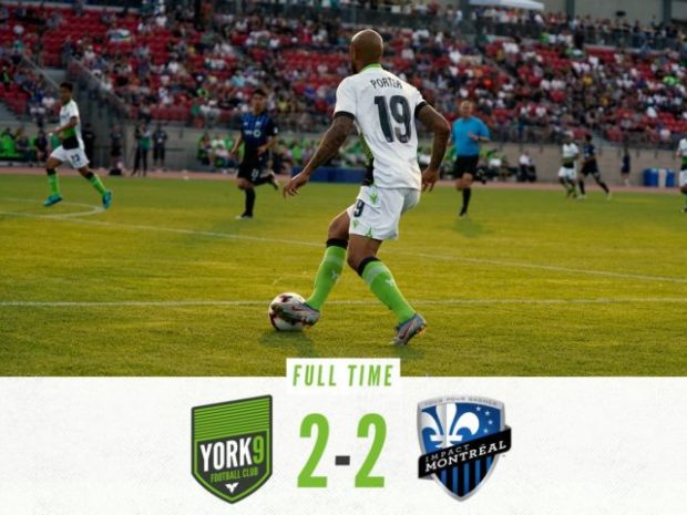 """York9 boss Brennan proud of his side's """"special moment"""" in Canadian Championship draw with Montreal"""